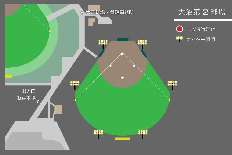 大沼第2球場図面