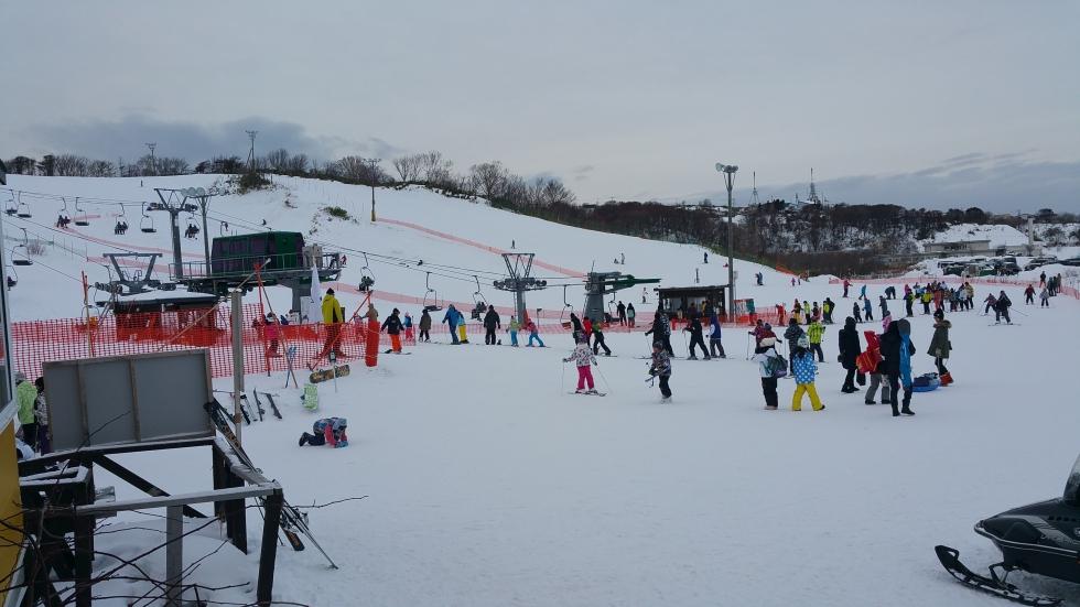 スキー場混雑